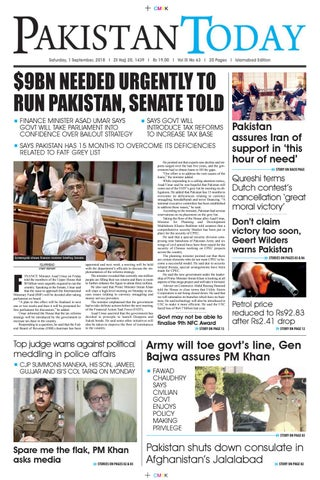 E-Paper PDF 1 September 2018 (ISB) by Pakistan Today - issuu