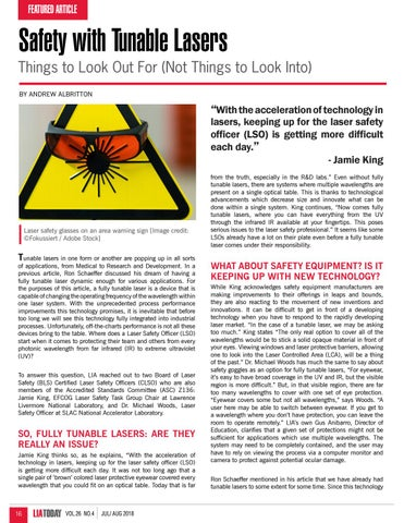 Page 16 of Safety with Tunable Lasers: Things to Look Out For (Not things to Look Into)