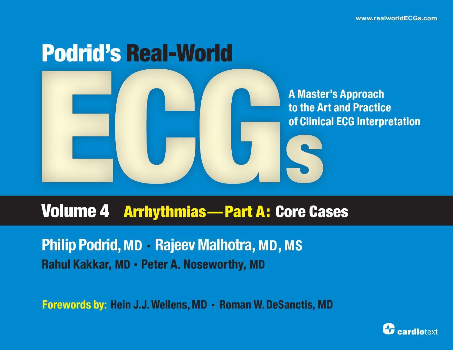 Podrids Real World Ecgs V4a Sample File Cases 1 5 By Cardiotext Invention Story Of Electrocardiography Ecg Willem Einthoven Publishing Issuu