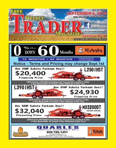 Weekly Trader September 6, 2018 by Weekly Trader - issuu