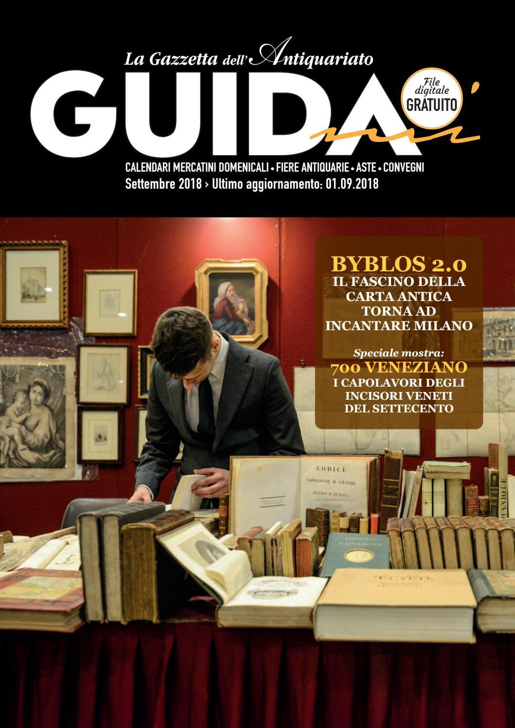 Calendario Mercatini Antiquariato Puglia.Guidami Settembre 2018 By La Gazzetta Dell Antiquariato Issuu