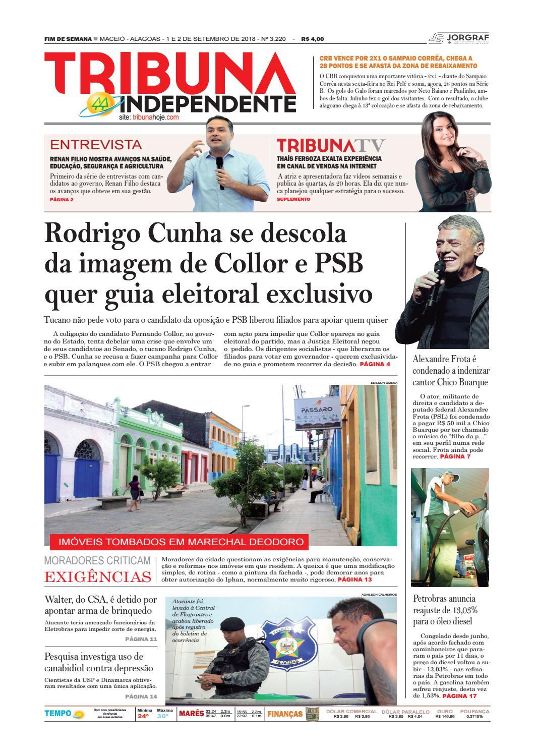 20f147b39f1ab Edição número 3220 - 1 e 2 de setembro de 2018 by Tribuna Hoje - issuu