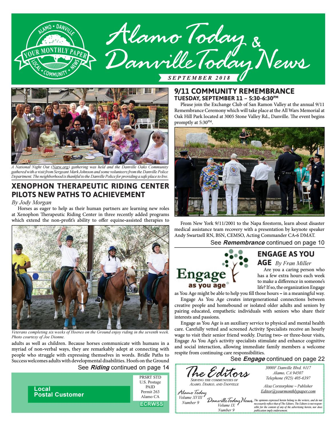 2018 SEPTEMBER – ALAMO TODAY & DANVILLE TODAY NEWS by The