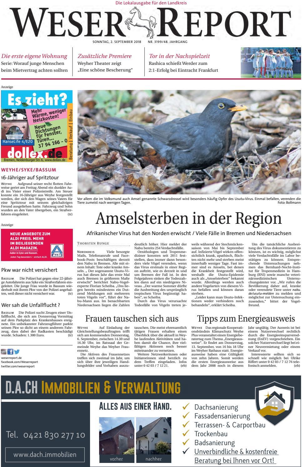 Weser Report - Weyhe, Syke, Bassum vom 02.09.2018 by KPS  Verlagsgesellschaft mbH - issuu