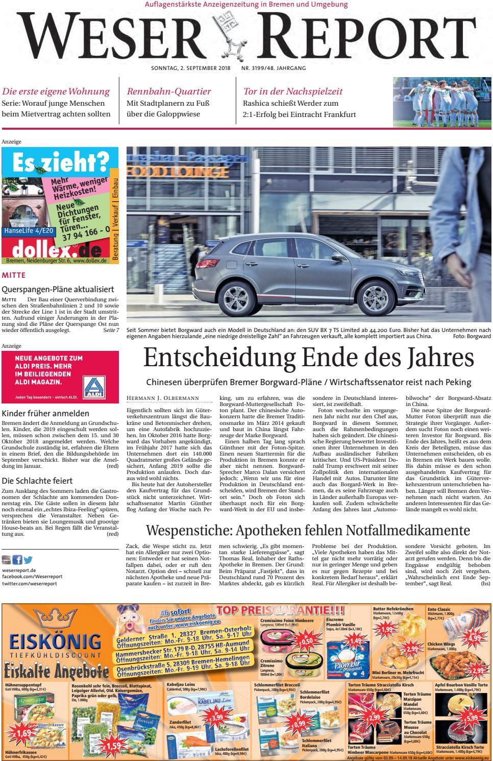 Weser Report - Mitte vom 02.09.2018 by KPS Verlagsgesellschaft mbH ...