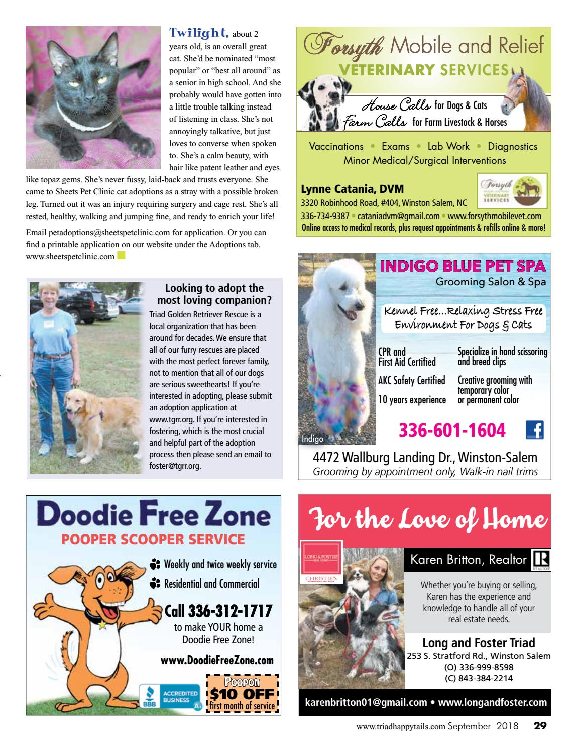 Triad Happy Tails Magazine Sept18 By Beverly Beck Associates Issuu