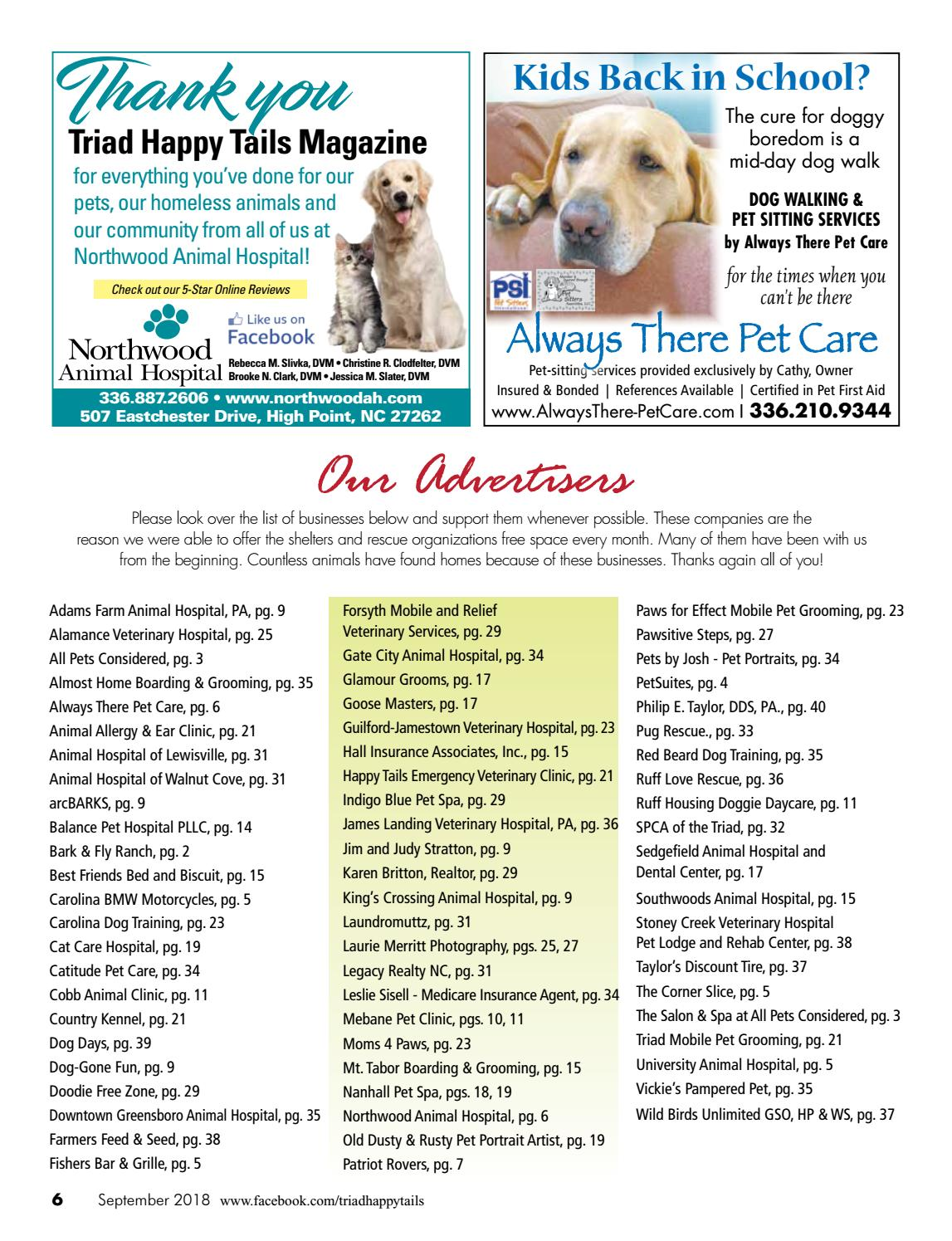 Triad Happy Tails Magazine Sept 18 By Beverly Beck Associates