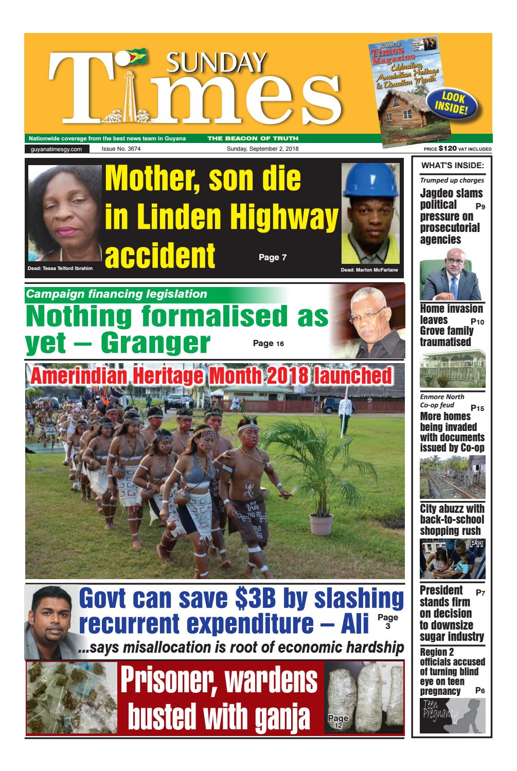 Guyana Times Sunday 2 September 2018 By Gytimes Issuu