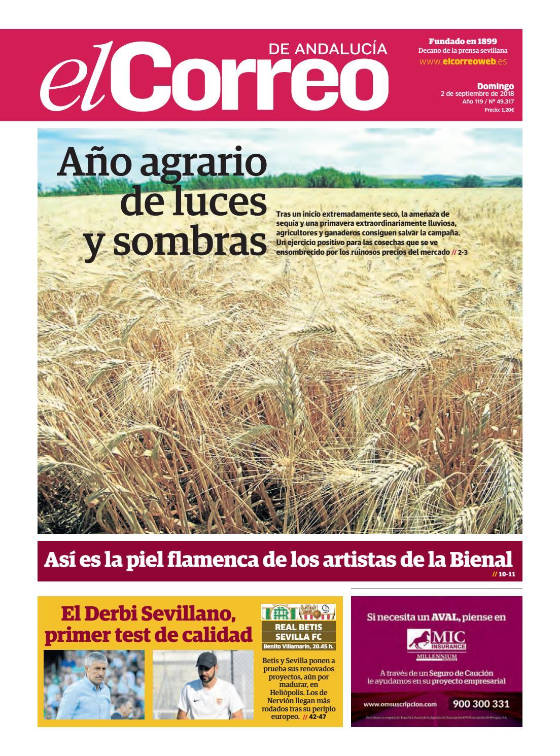 02.09.2018 El Correo de Andalucía by EL CORREO DE ANDALUCÍA S.L. - issuu 7f3329032c4f9