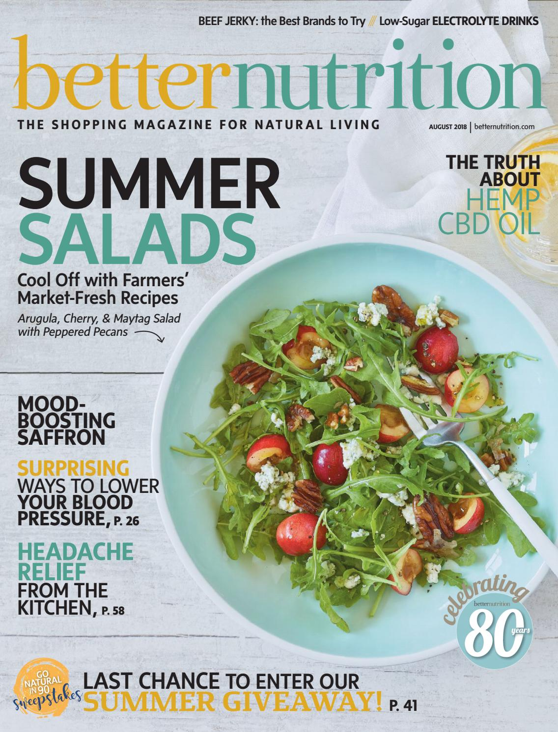 more photos 09187 354cf BetterNutritionMagazine August2018 by Active Interest Media Healthy Living  Group Retail Division - issuu