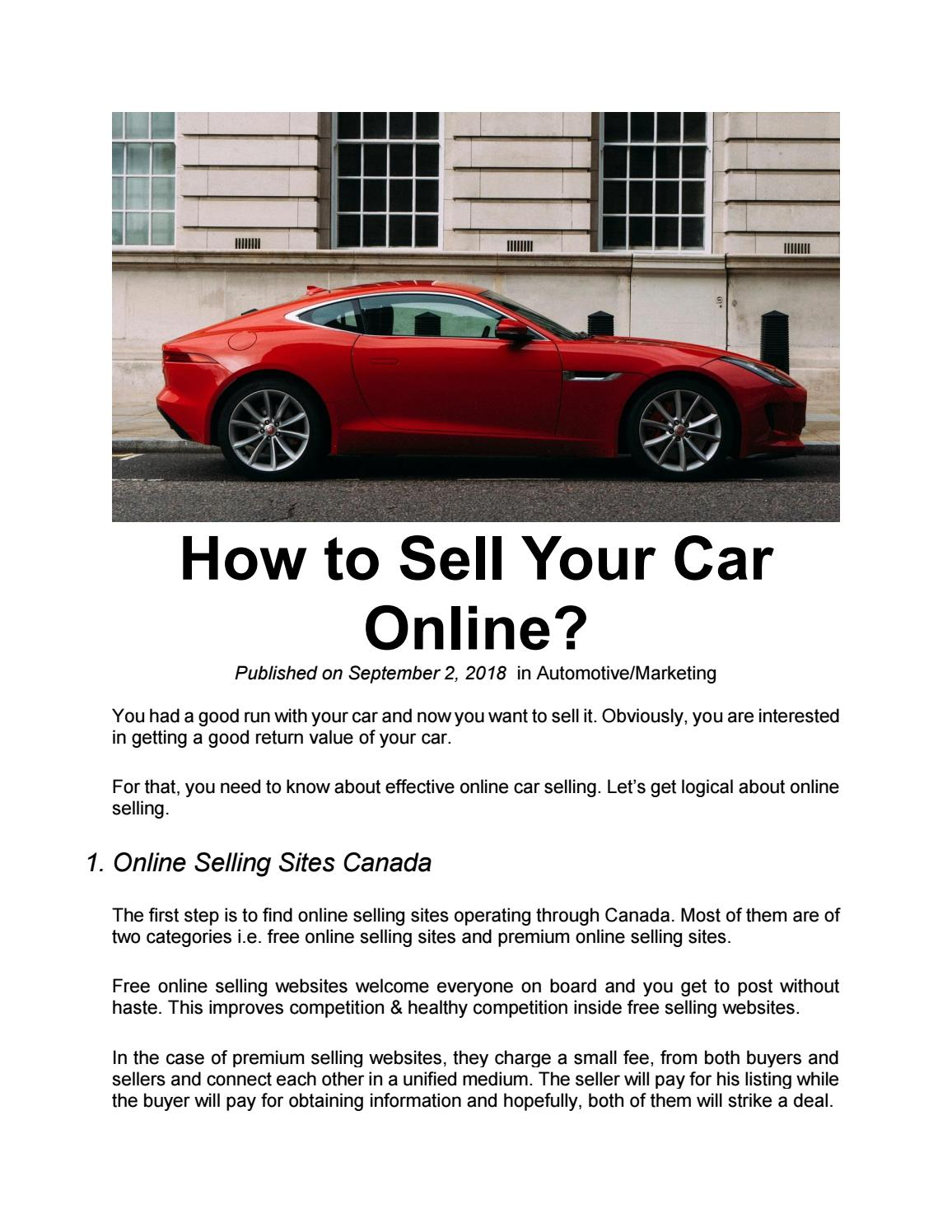 How to Sell Your Car Online? by MarketSpell - issuu