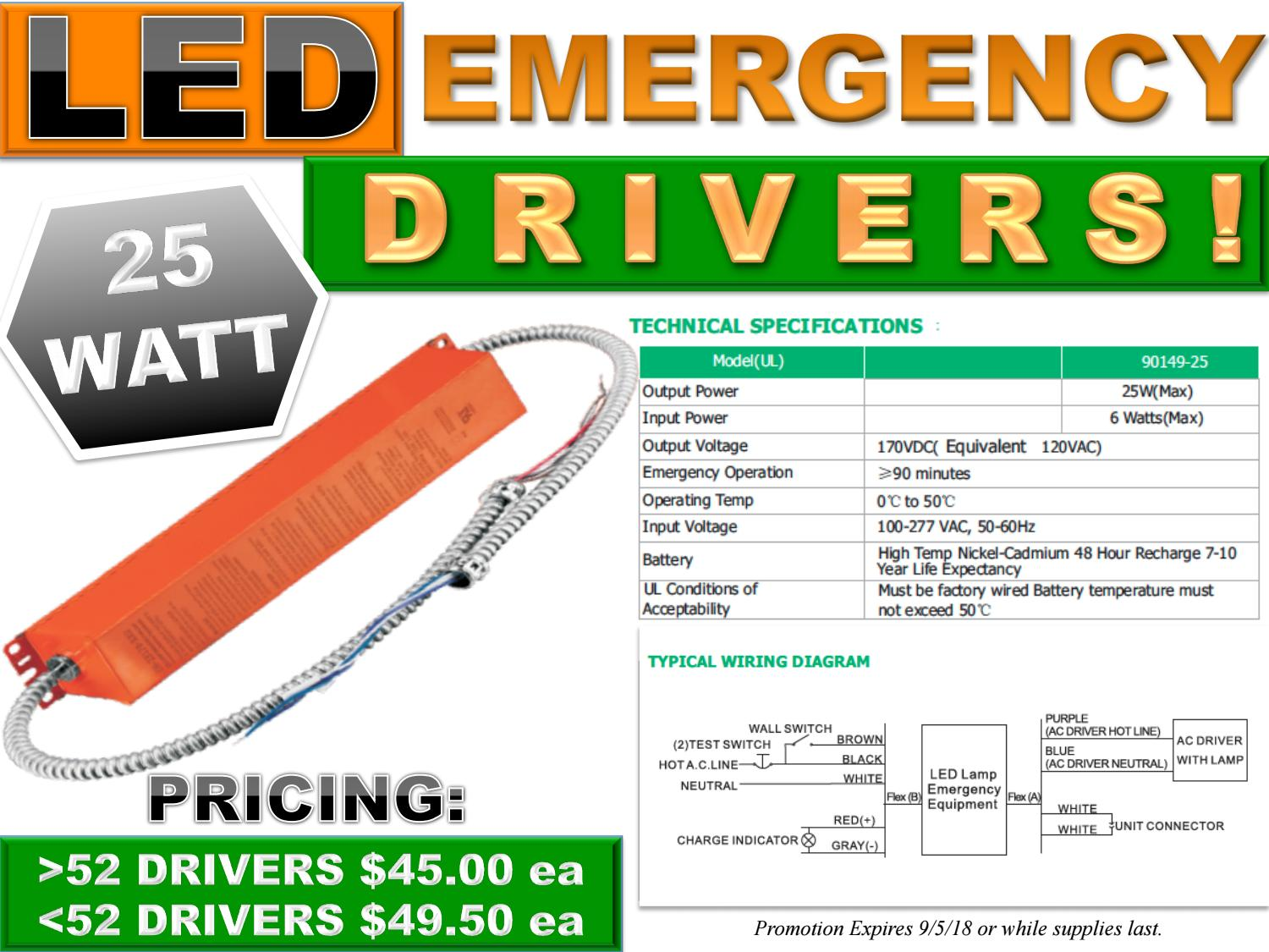 New 25 Watt Led Emergency Drivers On Sale Now By Lighting And Lights Ac Wiring Diagram Power Technologies Issuu