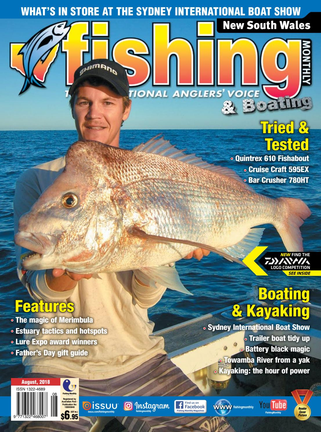 Nsw Fishing Monthly August 2018 By Issuu Mastercraft Seat Heater Wiring Diagram