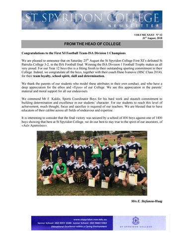 11e8ac412ee Newsletter 201 12 2018 by ST Spyridon College - issuu