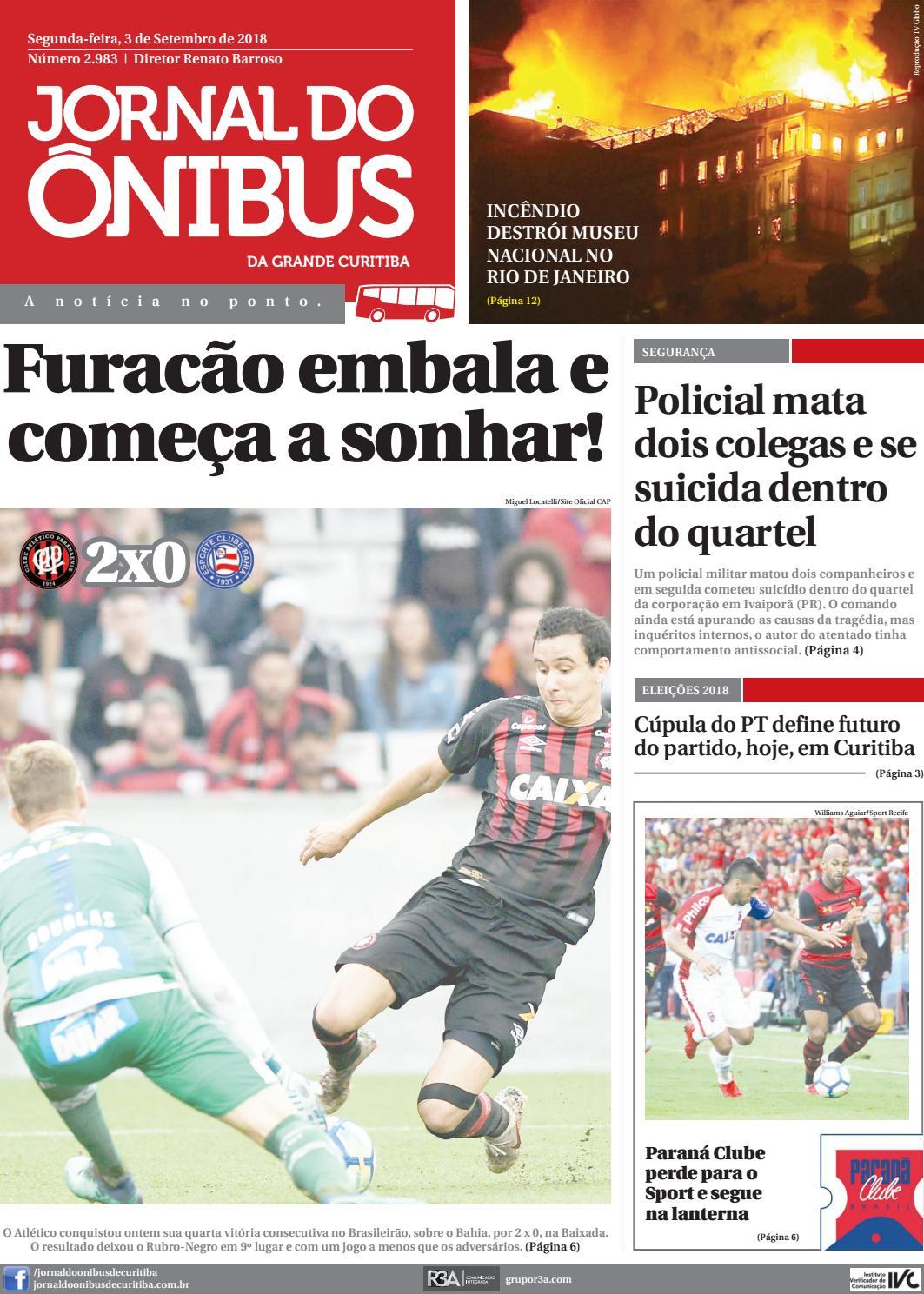 Jornal do Ônibus de Curitiba - 03 09 18 by Editora Correio Paranaense -  issuu a157bb40d5b7a