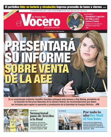 685127876 Edición del 3 de septiembre de 2018 by El Vocero de Puerto Rico - issuu