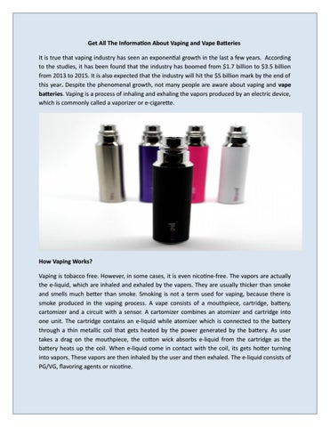 About Vape Batteries by PapaVapes - issuu
