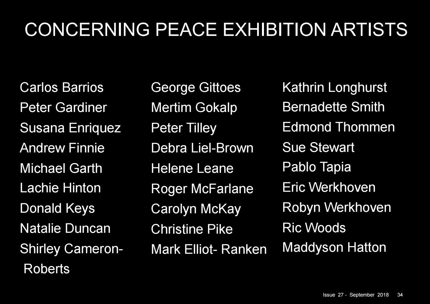 ARTS ZINE SEPTEMBER 2018