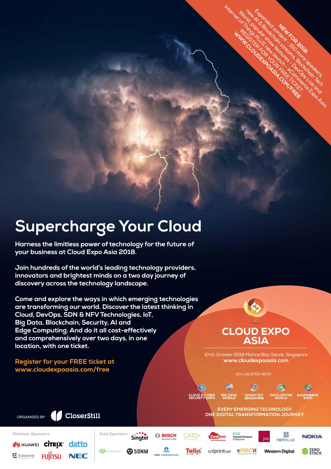 Cloud Expo Asia, Singapore Visitor Ticket 2018 by Closer