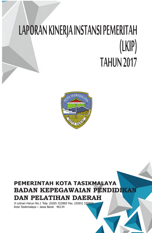 Lkip Bkppd Kota Tasikmalaya Tahun 2017 By Pep Bkppdtsm Issuu