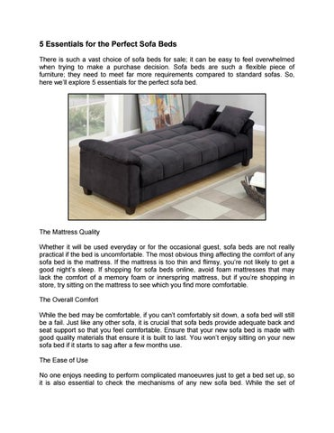 Prime 5 Essentials For The Perfect Sofa Beds By Chaisesofas Issuu Alphanode Cool Chair Designs And Ideas Alphanodeonline