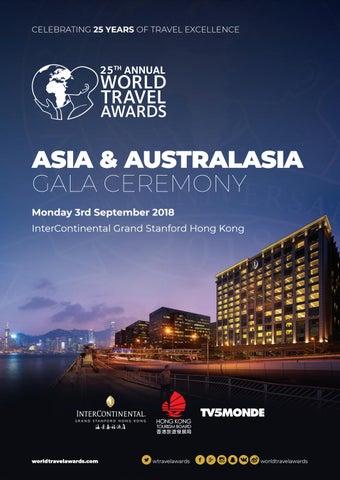 45470ef0e3343 World Travel Awards Asia   Australasia Gala Ceremony 2018 by World ...