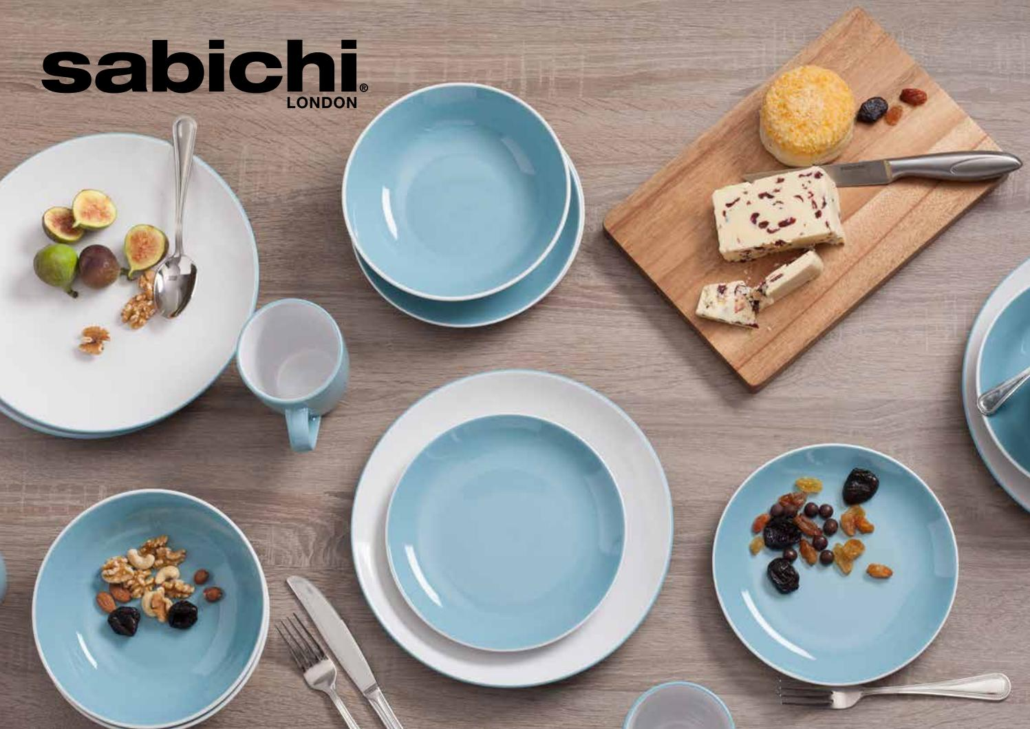 Sabichi 12 Piece Day to Day White Porcelain Dinner Dining Set NEW
