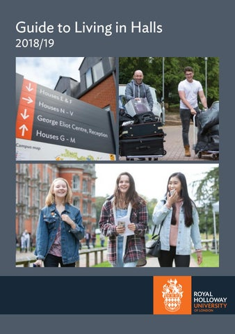 Guide to Living in Halls 2018/19 by Royal Holloway