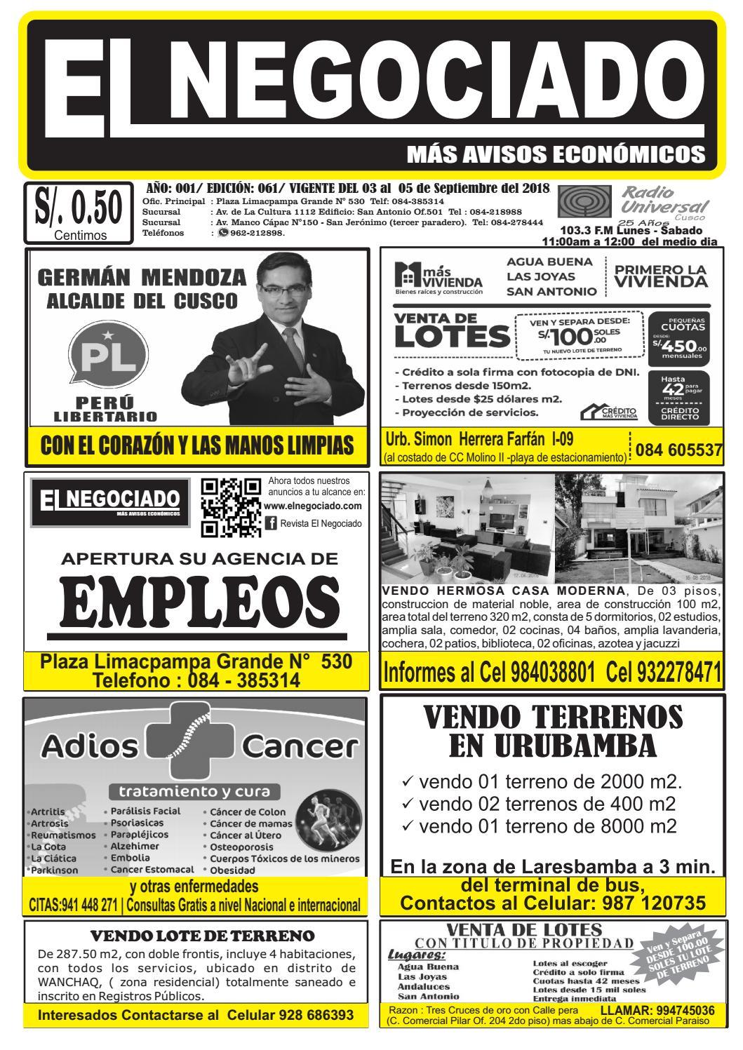 071786566836 Revista el Negociado Edición 61 by elnegociado1 - issuu