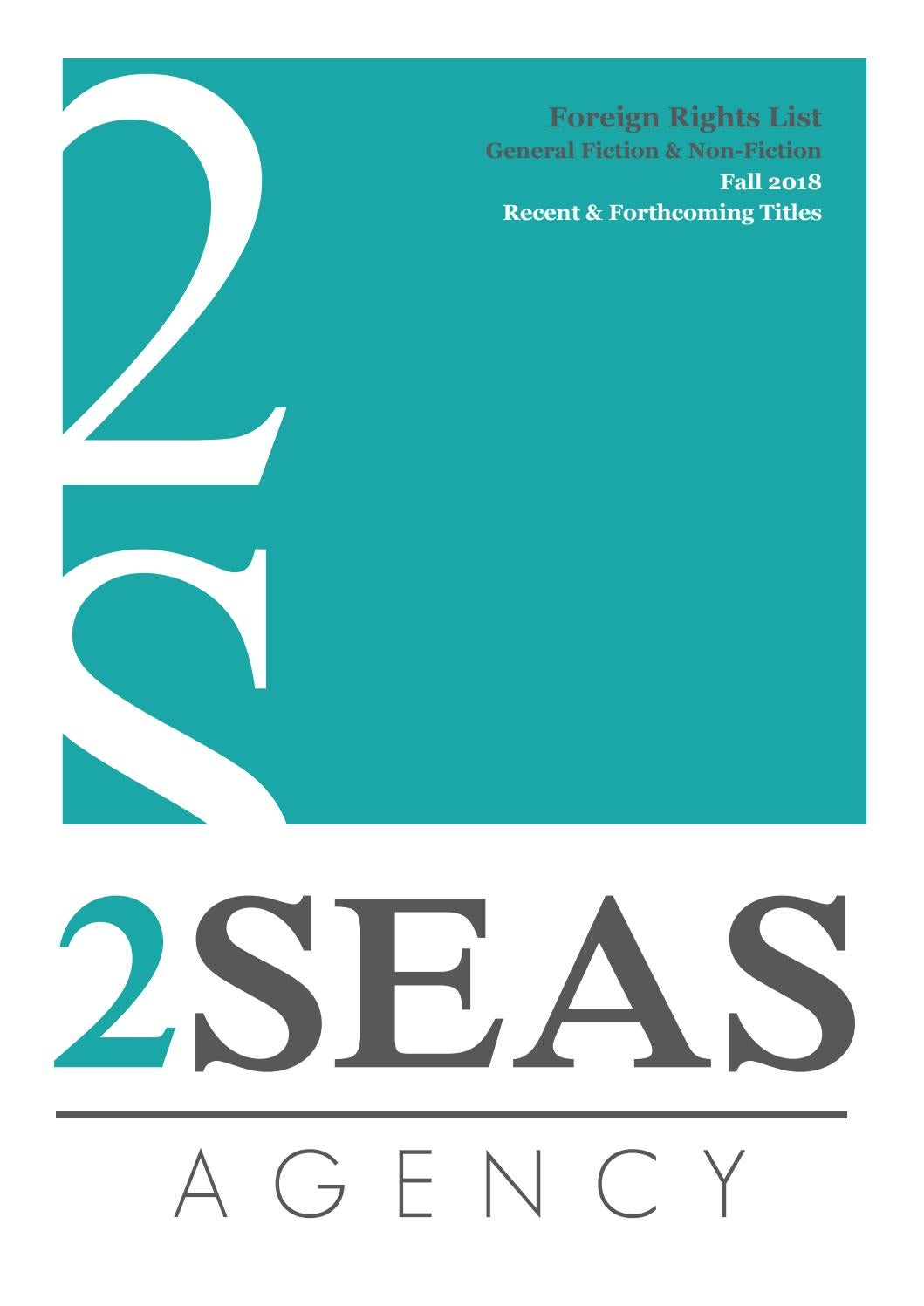 New Titles   2 Seas Agency 2018 Fall Rights List  General Fiction ...