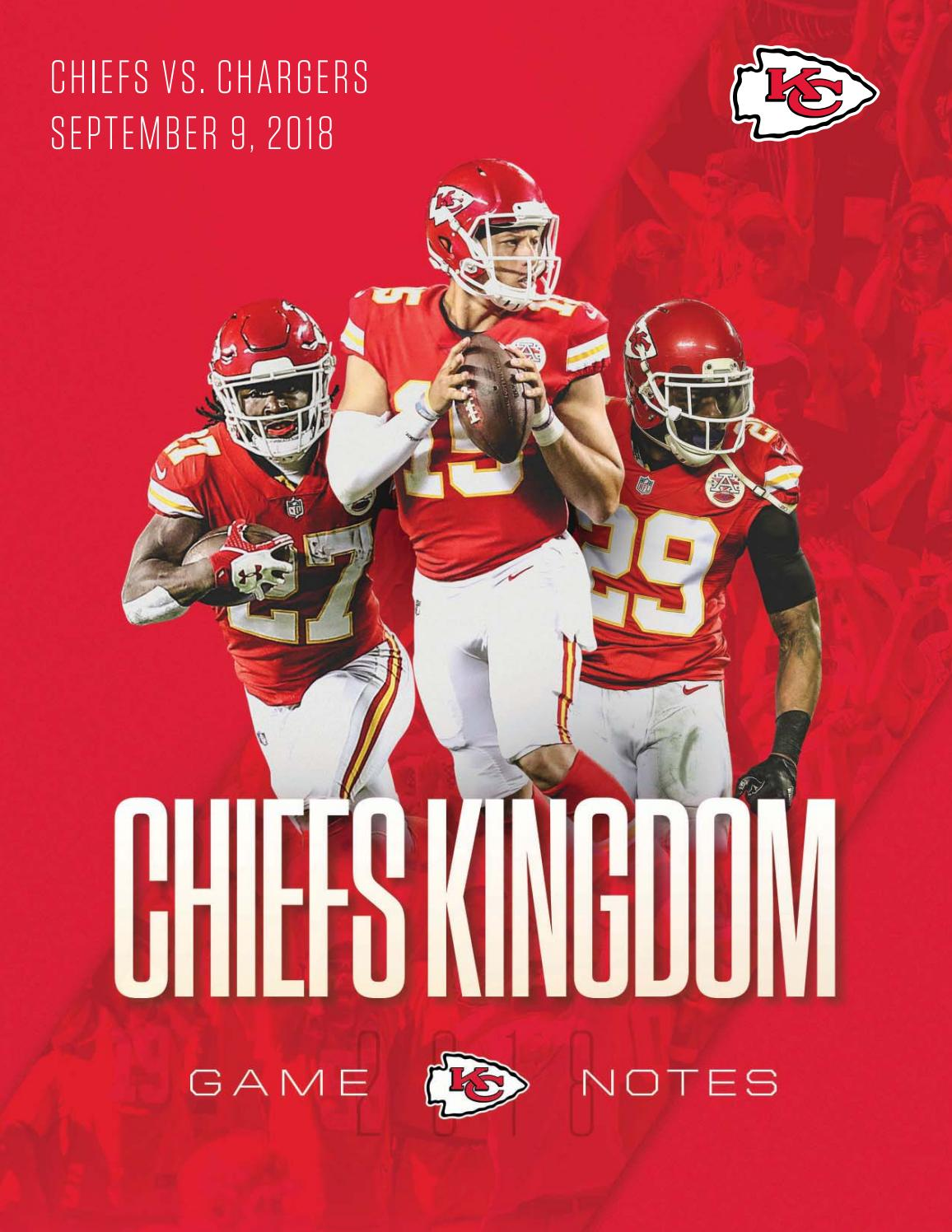 Regular Season Game 1 - Chiefs at Chargers (9-9-18) by Kansas City Chiefs -  issuu 653ded289