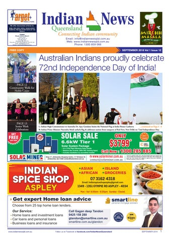 Indian News Queensland September Issue 12 Vol 1 by Indian News