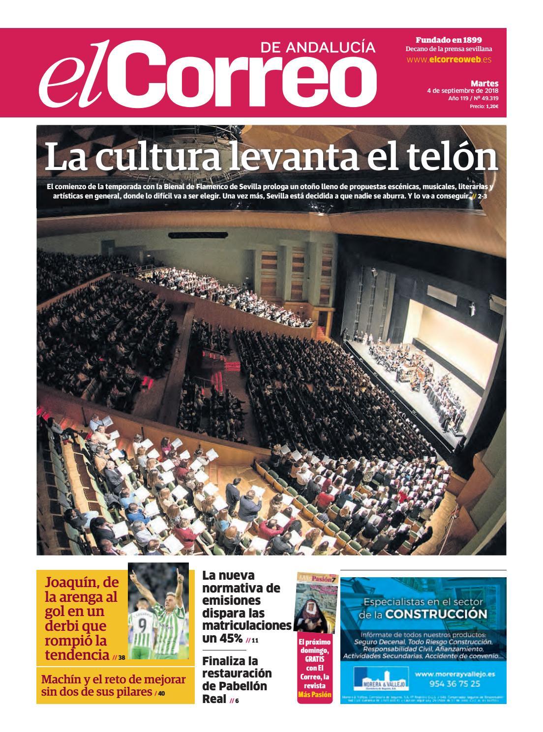 3adfade6 04.09.2018 El Correo de Andalucía by EL CORREO DE ANDALUCÍA S.L. - issuu