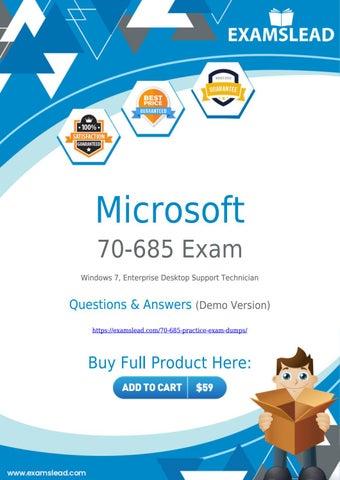 Microsoft 70-685 Pdf