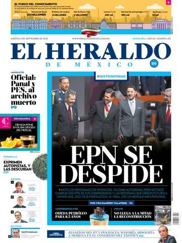 4 De Septiembre 2018 By El Heraldo De Mxico Issuu