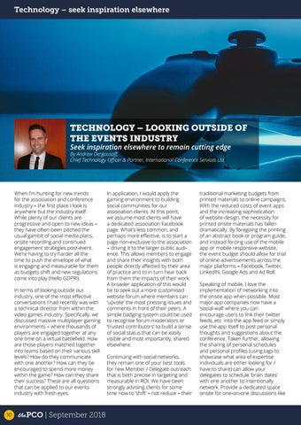 Page 10 of Technology - Looking outside the events industry