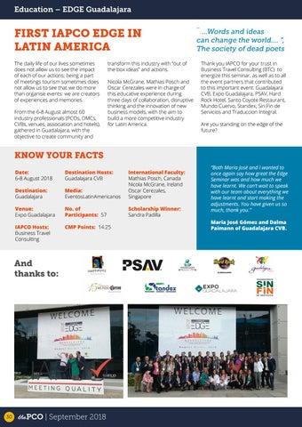 Page 30 of First IAPCO EDGE in Latin America