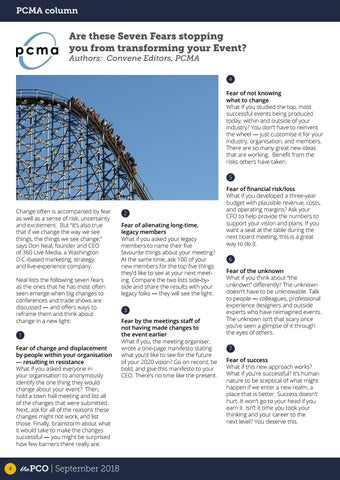 Page 4 of PCMA Column - Are these Seven Fears stopping you from transforming your Event?