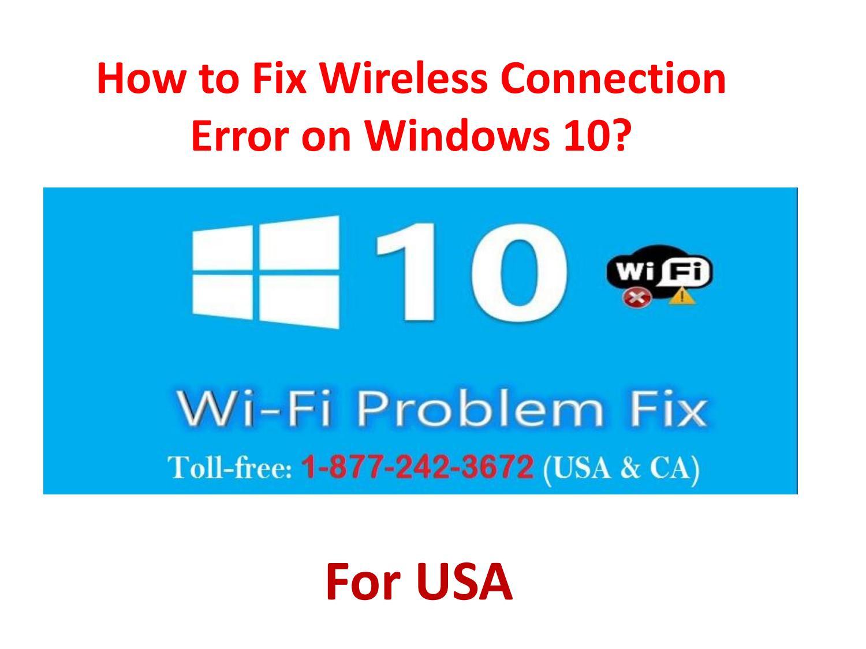 windows 10 wireless error
