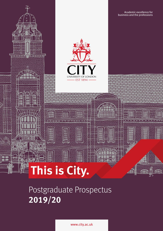 City, University of London 2019/20 Postgraduate Prospectus by City