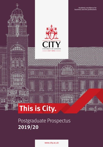 City, University of London 2019/20 Postgraduate Prospectus