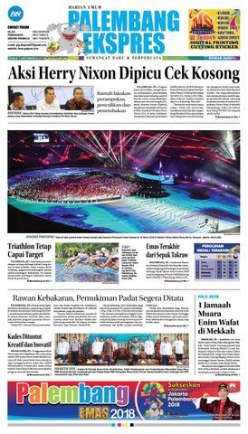 Palembang Ekspres Senin 3 September 2018 By Palembang Ekspres Issuu