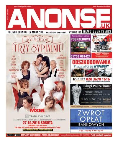 3b63f697e Anonse - Polska gazeta w UK. Wydanie (140) 2018.09.03 by Anonse Ltd ...