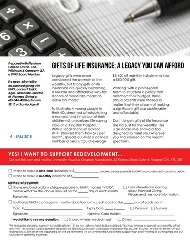 Page 4 of Gifts of Life Insurance: A legacy you can Afford