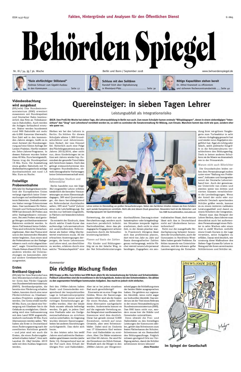 Behörden Spiegel September 2018 by propress - issuu