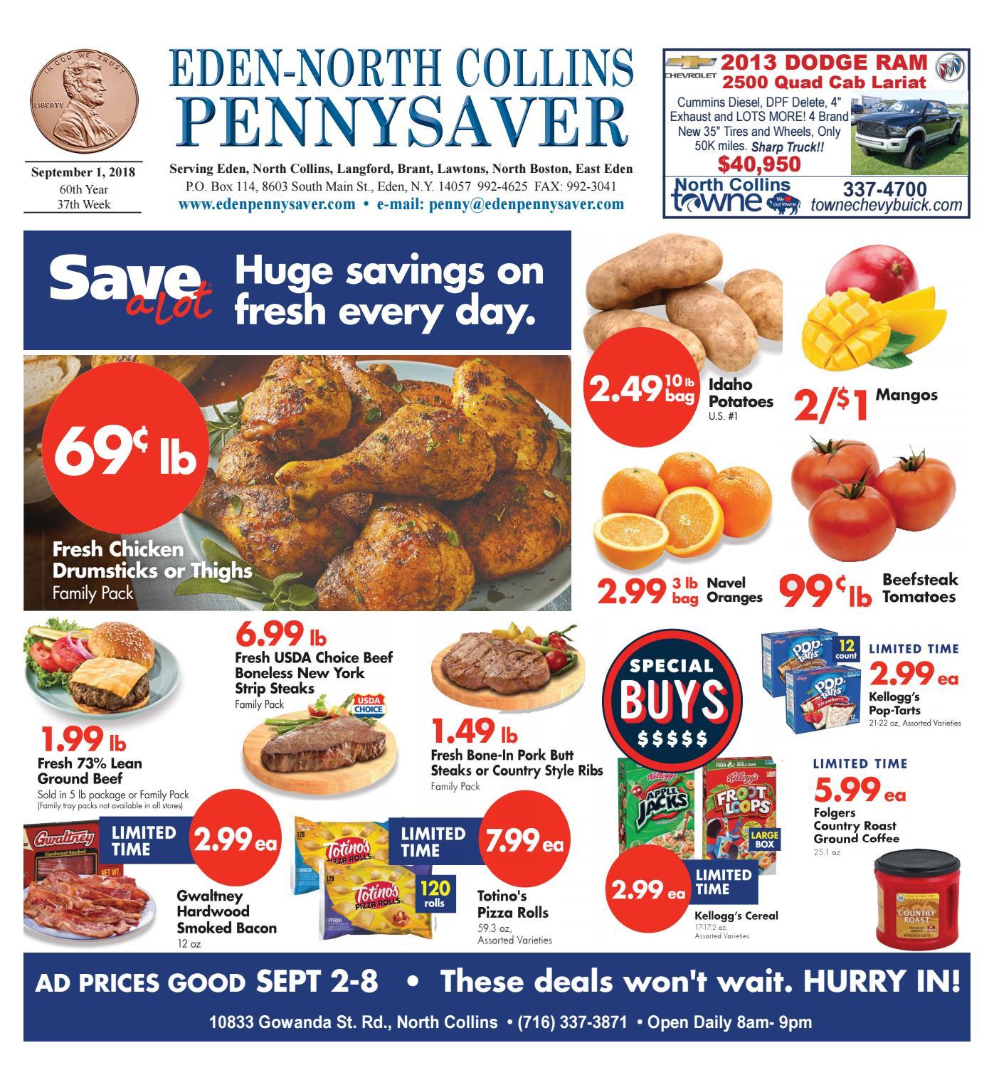 Eden- North Collins Pennysaver 9-1-18 by Eden- North Collins