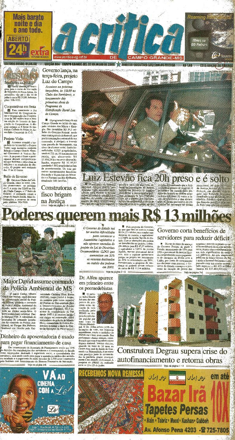 214b5bd67 Jornal A Critica - Edição 984- 02 07 2000 by JORNAL A CRITICA - issuu