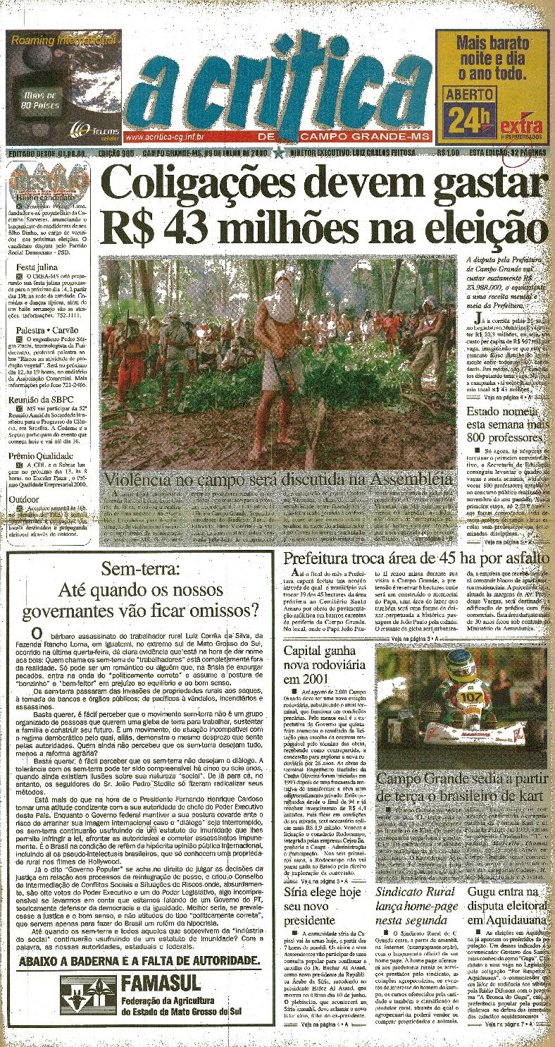 Jornal A Critica - Edição 985- 09 07 2000 by JORNAL A CRITICA - issuu 0b5e44d702