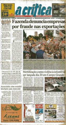711ed6ed3 Jornal A Critica - Edição 986- 16/07/2000 by JORNAL A CRITICA - issuu