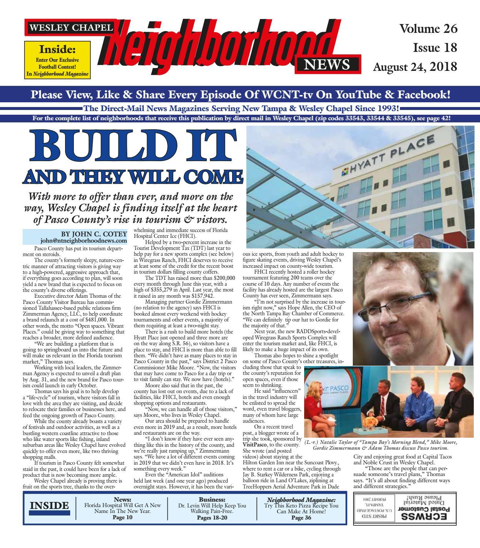 5f99a4e5f3ce7 Wesley Chapel Neighborhood News, Volume 26, Issue 18, Aug. 24, 2018 ...